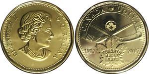 1 Dólar Canadá Acero Isabel II (1926-)