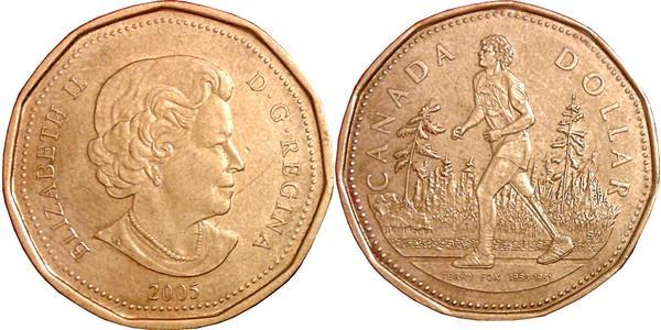 1 Dólar Canadá Bronce Isabel II (1926-)