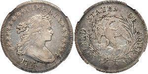 1 Dólar Estados Unidos de América (1776 - ) Cobre/Plata Anne Willing Bingham (1764-1801)