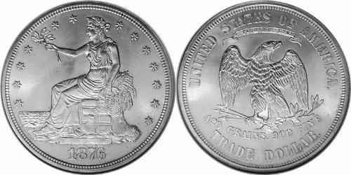 1 Dólar Estados Unidos de América (1776 - ) Cobre/Plata