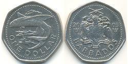 1 Dólar Barbados Níquel/Cobre