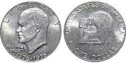 1 Dólar Estados Unidos de América (1776 - ) Níquel/Cobre Dwight D. Eisenhower (1890-1969)