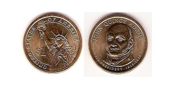 1 Dólar Estados Unidos de América (1776 - ) Níquel/Cobre John Adams (1735-1826)