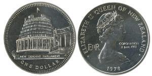 1 Dólar Nueva Zelanda Níquel/Cobre Isabel II (1926-)