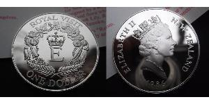 1 Dólar Nueva Zelanda Níquel/Cobre