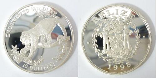 1 Dólar Belice (1981 - ) Plata