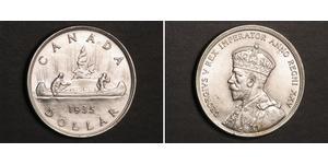 1 Dólar Canadá Plata Jorge V (1865-1936)