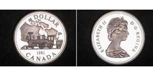 1 Dólar Canadá Plata