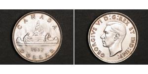 1 Dólar Canadá Plata Jorge VI (1895-1952)