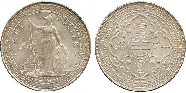 1 Dólar Hong Kong / Imperio británico (1497 - 1949) Plata