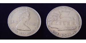 1 Dólar Nueva Zelanda Plata Isabel II (1926-)