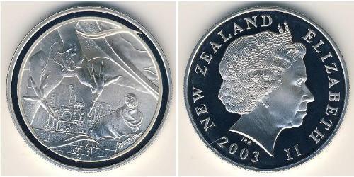 1 Dólar Nueva Zelanda Plata