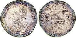 1 Daalder Repubblica delle Sette Province Unite (1581 - 1795) Argento Filippo II di Spagna (1527-1598)