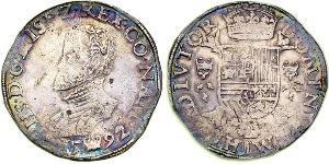 1 Daalder Provincias Unidas de los Países Bajos (1581 - 1795) Plata Felipe II de España (1527-1598)
