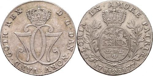1 Daler / 1 Speciedaler 挪威 銀 克里斯蒂安七世 (1749 - 1808)