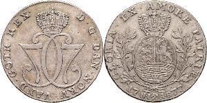1 Daler / 1 Speciedaler Norvegia Argento Cristiano VII di Danimarca (1749 - 1808)