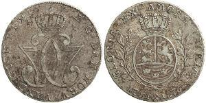 1 Daler / 1 Speciedaler Noruega Plata Cristián VII de Dinamarca (1749 - 1808)