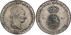 1 Daler / 1 Speciedaler Reino de Dinamarca y Noruega (1536-1814) Plata Cristián VIII de Dinamarca (1786 - 1848)