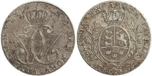 1 Daler / 1 Speciedaler Norwegen Silber