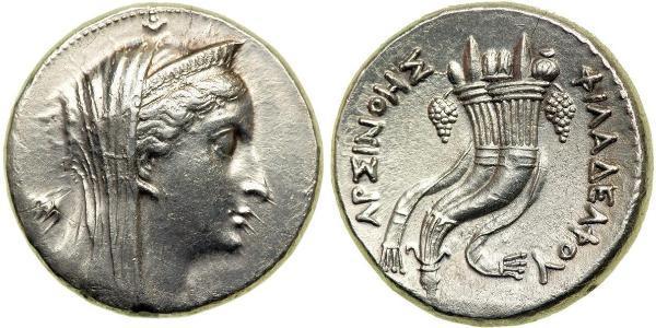 1 Dekadrachm Елліністичний Єгипет (332BC-30BC) Срібло Птолемей II Філадельф(309BC-246BC)
