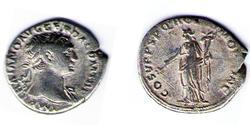 1 Denario Impero romano (27BC-395) Argento Traiano (53-117)