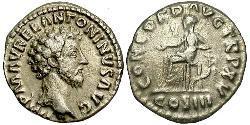 1 Denario Impero romano (27BC-395) Argento Marco Aurelio (121-180)