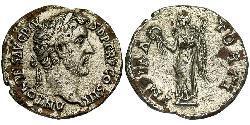 1 Denario Impero romano (27BC-395) Argento Antonino Pio  (86-161)