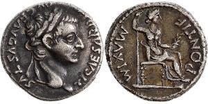 1 Denario Impero romano (27BC-395) Argento Tiberio Claudio Nerone (42 BC-37)