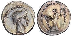 1 Denario Repubblica romana (509BC-27BC) Argento Giulio Cesare (100BC- 44 BC)