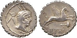 1 Denario Repubblica romana (509BC-27BC) Argento