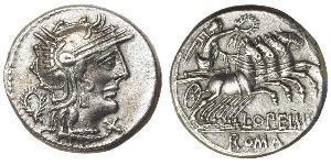 1 Denario Repubblica romana (509BC-27BC) Argento Lucio Opimio