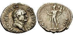 1 Denario Imperio romano (27BC-395) Plata Vespasiano (9-79)