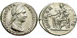1 Denario Imperio romano (27BC-395) Plata Vibia Sabina (83-137)