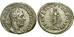 1 Denario Imperio romano (27BC-395) Plata Macrino (165-218)