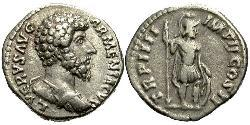 1 Denario Imperio romano (27BC-395) Plata Lucio Vero (130-169)