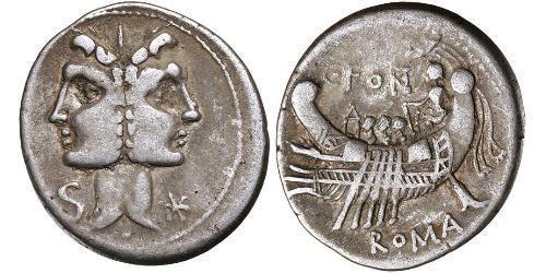 1 Denario República romana (509BC-27BC) Plata