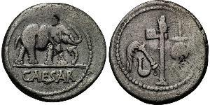 1 Denarius 罗马共和国 (509 BC - 27 BC) 銀 尤利烏斯·凱撒