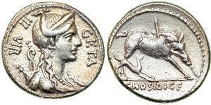 1 Denarius 罗马共和国 (509 BC - 27 BC) 銀