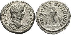 1 Denarius 羅馬帝國 銀 塞普提米乌斯·盖塔