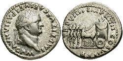 1 Denarius 羅馬帝國 銀 Titus (39-81)