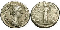 1 Denarius 羅馬帝國 銀 Bruttia Crispina (164-187)