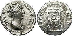 1 Denarius 羅馬帝國 銀 大福斯蒂娜
