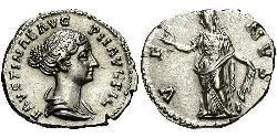 1 Denarius 羅馬帝國 銀 Faustina II (130-175)