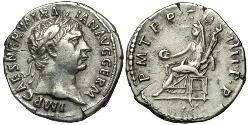 1 Denarius 羅馬帝國 銀 Trajan (53-117)
