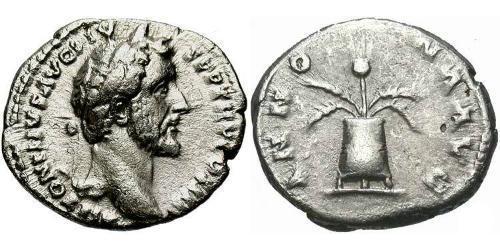 1 Denarius 羅馬帝國 銀 Antoninus Pius  (86-161)