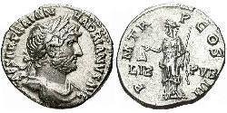 1 Denarius Römische Kaiserzeit (27BC-395) Silber Hadrian  (76 - 138)