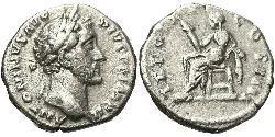1 Denarius Römische Kaiserzeit (27BC-395) Silber Antoninus Pius  (86-161)