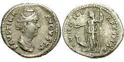 1 Denarius Römische Kaiserzeit (27BC-395) Silber Faustina die Ältere(105-141)