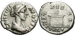 1 Denarius Römische Kaiserzeit (27BC-395) Silber Bruttia Crispina (164-187)