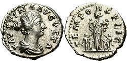 1 Denarius Römische Kaiserzeit (27BC-395) Silber Faustina II (130-175)